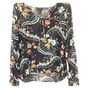 Silk Boho Top by The Limited Sz L